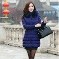 Casaco de Inverno das mulheres Novas Parkas Fêmea Grossa Para Baixo Mulheres Jaqueta de Algodão Acolchoado Longo Casaco Jaqueta Outwear Plus Size Casuais C1251