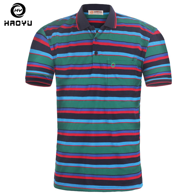 Venta caliente 2016 Nuevos hombres de la Camisa de Polo de la Marca Famosa Marca ropa Classic Striped Corta Transpirable Para Hombre Polo Hombre Camiseta Polo
