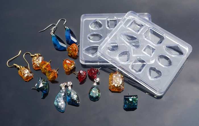 1PC Diamond Shaped Jewelry Tool Jewelry Mold UV Epoxy Resin Silicone Molds For Making Jewelry