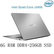 P2-10 6G RAM 256G SSD Intel Celeron J3455 Gaming laptop notebook computer keyboard and OS language available for choose