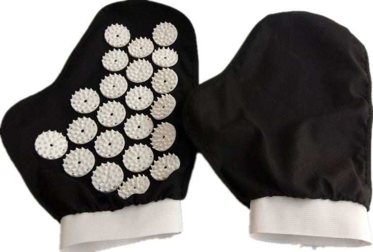 2 pcs/lot Acupuncture Massage Gloves Hand Hold Fully Body Massager Acupressure Spike Needle Stress Pain Relief GLove