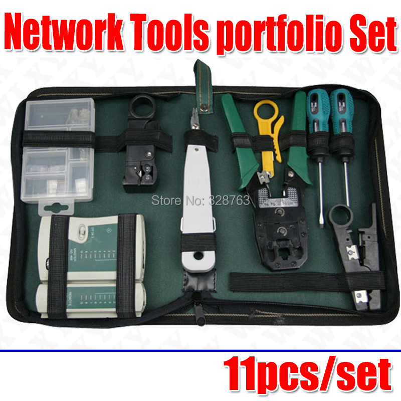 WLXY 11/pcs Network Cable Computer Cable Tester Diagnostic Tool Kit Box Free shipping