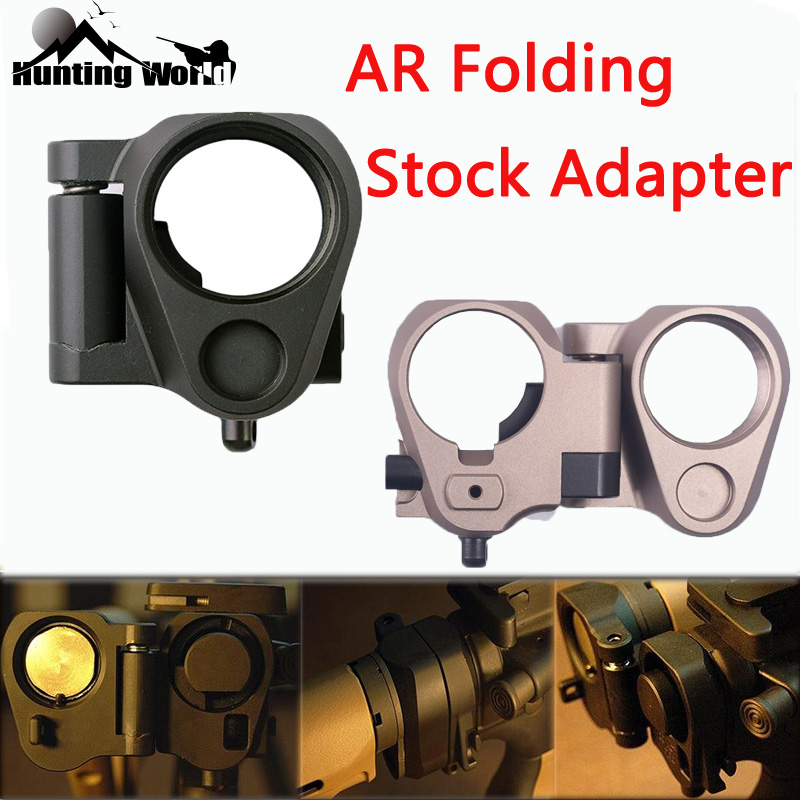 Tactical AR Folding Stock Adapter for Airsoft M16 M4 SR25 GBB AEG Hunting Rifle Airsoft Gear Parts image