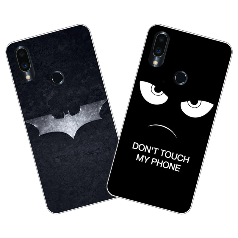 Meizu note 9 Case,Silicon Black bats cartoon Painting Soft TPU Back Cover for Meizu note9 Phone protect cases shell