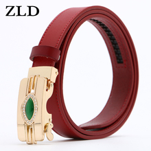 ZLD Womens belts genuine leather designer High quality belt  luxury straps for woman fashion automatic buckle Dress