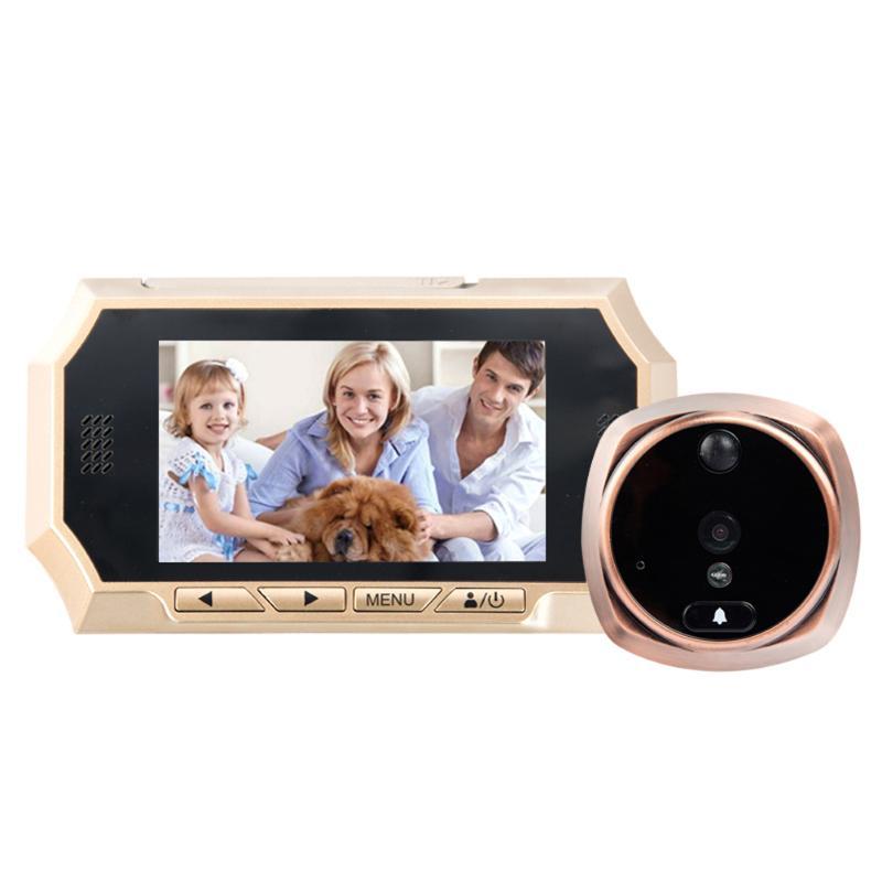 1 Set 4.3'' HD LCD Digital Peephole Door Eye Touch Screen Phone Intercom System Video Camera Home Security IR Camera Doorbell h 264 1080p door eye hd ahd peephole