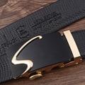 Nuevo Diseñador carta S hebilla Hebilla Automática cinturón de Cuero de Vaca hombres del diseñador para hombre cinturones de lujo 110-130 cm