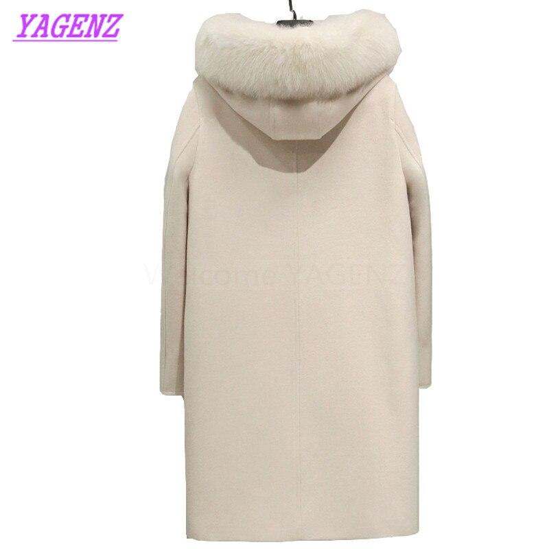 Veste B313 Chaud De Jeunes Col Laine Haute Renard Qualité Manteau Nouveau Automne Lmitation Coréenne Hiver Creamy white Femmes Fourrure Longue Pardessus tUqwvXEvxn