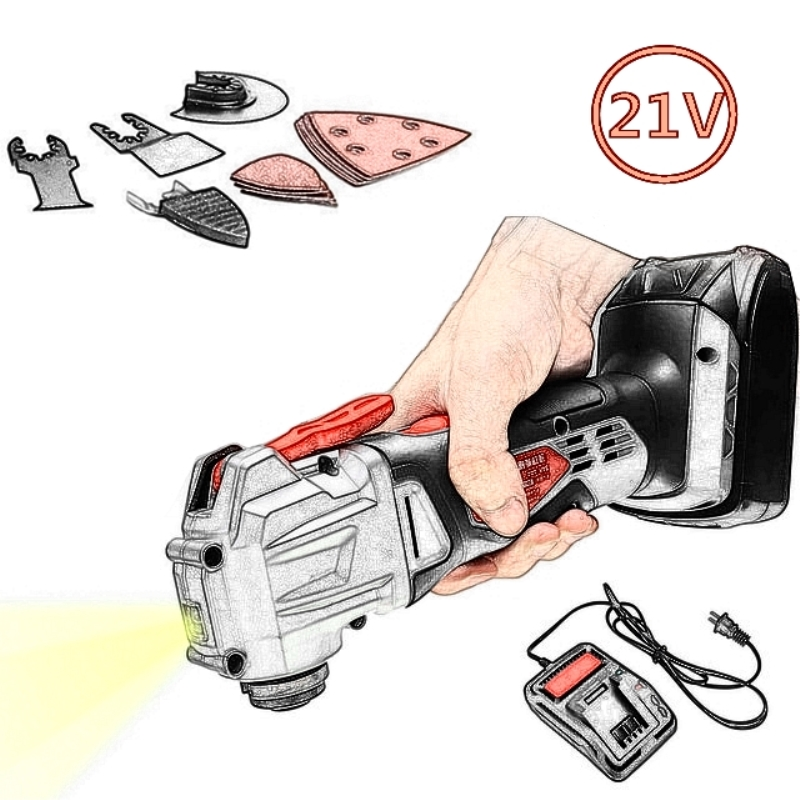 21V Multifunction Cordless Oscillating Tool Kit Rechargeble Multi-Tool Power Tool Electric Trimmer Sander with Lithium Battery goal zero switch 10 multi tool kit