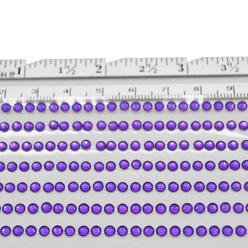 3mm אקריליק Rhinestones מחשב רכב אמנות DIY קרפט מדבקות עצמי דבק ריינסטון רעיונות נקודות שרף מדבקת 1040pcs/גיליון