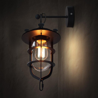 Stylish personality retro attic iron industry garden retro wall lamp restaurant Coffee Salon studio dock wall lamp m