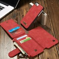 Creative Durable Mobile Phones  Protective Case Bag High Class Leather Magnet Style Coin Credit Card Organizer For Iphone 6P/6SP