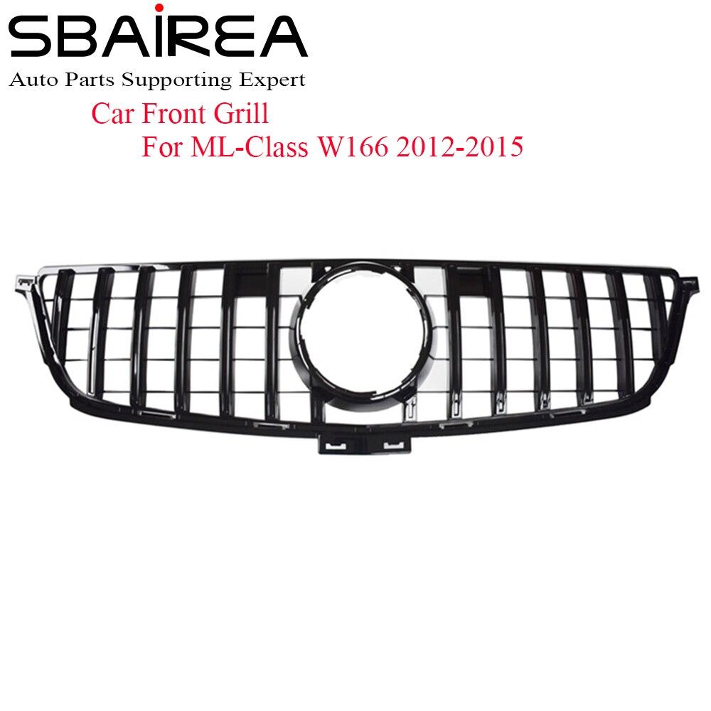 SBAIREA W166 GTR רכב פגוש קדמי עליון גריל לנץ ML Class W166 AMG גריל ML300 ML320 ML350 ml400 ML450 גריל 2012 2015-בסבכות ספורטיביות מתוך רכבים ואופנועים באתר SBAIREA Official Store