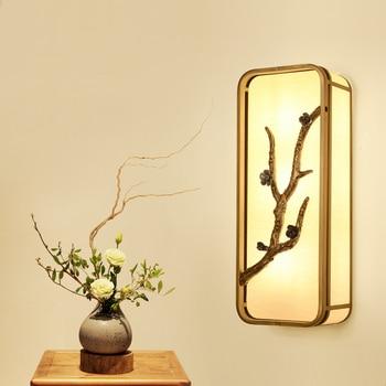 Современная Стена в китайском стиле лампы дизайнерские стены отеля китайская гостиная прохода лампа прикроватный настенный светильник ...