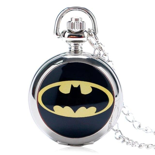 Argento Di Modo Della Ragazza Unisex Donna Bambino Super Hero Batman Logo Ora Or