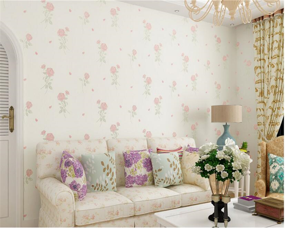 beibehang papel de parede wallpaper Three-dimensional nonwoven fabrics beautiful pastoral flowers 3d wallpaper wall background a three dimensional embroidery of flowers trees and fruits chinese embroidery handmade art design book