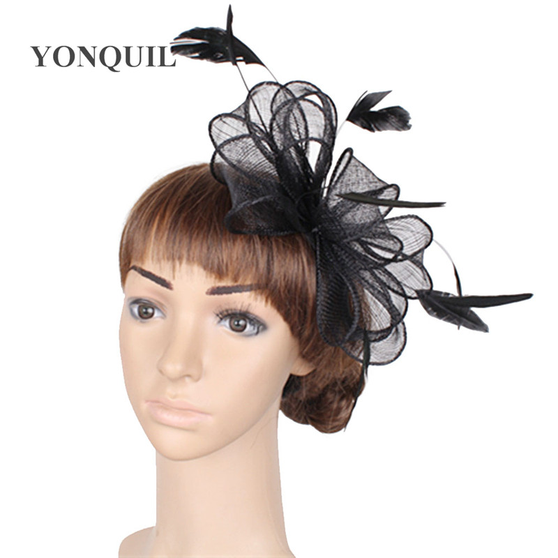 Free shipping 17 colors can be chosen sinamay fascinator hats good bridal wedding hair accessories cocktail hat Very nice SYF280