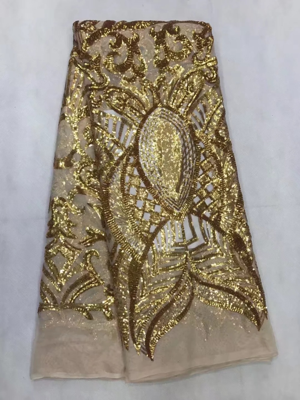 Guangzhou Vempin African Lace Fabric Store New arrival African Lace Fabric Sequins Fabric High Quality African French Net Lace Fabric For Wedding Dresses