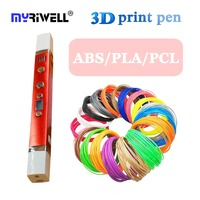 myriwell 3d Pen 3d printer pen 3d printing drawing pen 100m/200m filament magic maker arts for children christmas gift diy toys