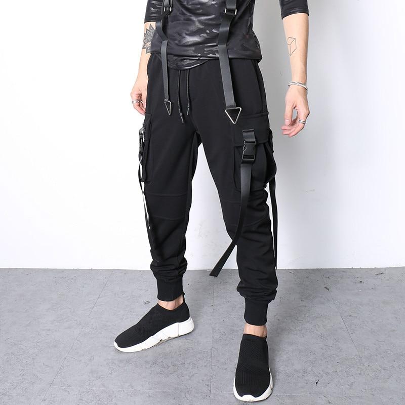 Neue 2019 Band Persönlichkeit Dünne Knöchel Beiläufige Der Schwarzes Hosen Männer Sänger Füße Kostüme Banded Herbst Haren Kleidung rrTqwfdU