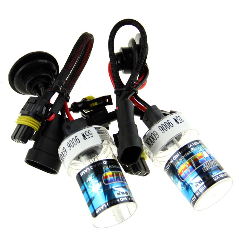 2Pcs Xenon HID Bulb 9006 55W Car Headlight Lamp 4300K 5000K 6000K 8000K 10000K 12000K 12V Car Light Lens Auto Fog Light Bulb 2pcs 12v 35w xenon h4 2 hid xenon bulb lamp 4300k 6000k 8000k 10000k hid xenon light
