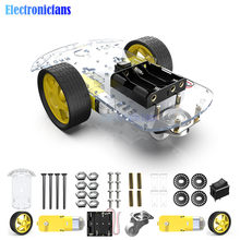DIY Kit Motor Smart Robot Car Chassis Kit Speed Encoder Battery Box 2WD Tracking Obstacle Avoidance Intelligent Car(China)