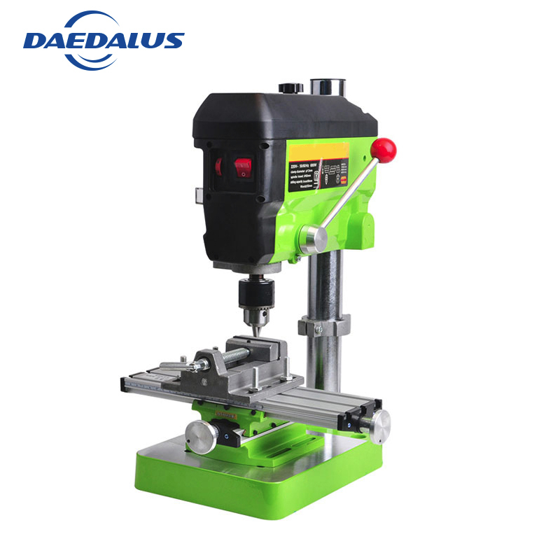 6300 Manual Work Table Multifunctional Drill Table 680W Drill Press Mini 2 5 Inch Bench Vise