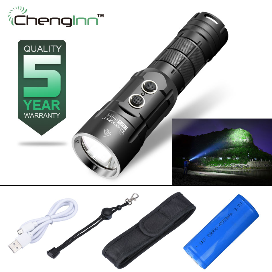 Self Defense Convoy Flashlight Cree Rechargeable Usb Led Torch 1000 Lumens 5 Mode Aluminium Alloy Include 26650 Free Shipping nitecore p25 led flashlight smilodon tactical star usb rechargeable 960 lumens aluminum alloy waterproof torch free shipping