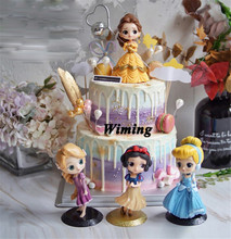 cinderella princess birthday cake topper baby children girls toys for kids party decoration cupcake toppers
