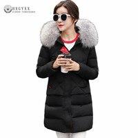 Winter Jacket Women 2017 Luxury Real Raccoon Fur Hooded Ladies Coats 90 White Duck Down Parka
