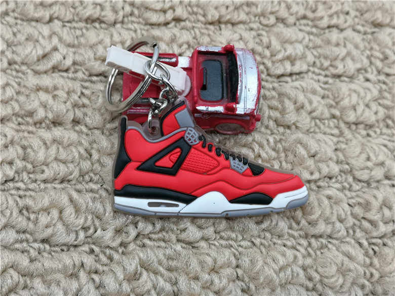 Dễ thương Mini Silicone Jordan 4 AJ Giày Móc Khóa Túi Quyến Rũ Người Phụ Nữ Nam Trẻ Em Móc Khóa Quà Tặng Phụ Kiện Giày Sneaker Chìa khóa mặt dây chuyền