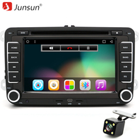 Junsun 7 2 Din Android 6 0 Car DVD Player 1024 600 Quad Core For VW