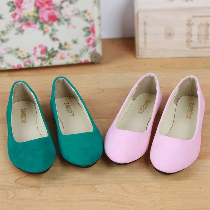 spring autumn loafer women shoes ladies ballet flats woman ballerinas casual shoe sapato zapatos mujer womens shoes plus size 43 DreamShining Big Size Women Flats Candy Color Woman Loafers Spring Autumn Flat Shoes Women Zapatos Mujer Plus Size 35-43