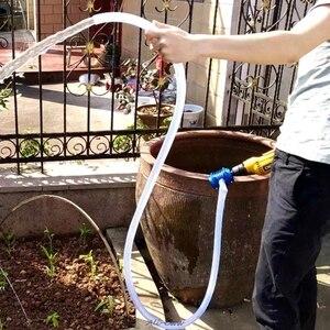 Image 4 - כבדות תחול יד חשמלית תרגיל מים משאבת בית גן צנטריפוגלי העברת אור נוזלים חזק פלסטיק גוף