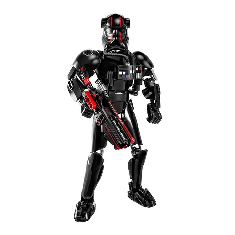 Звездные войны сборная фигура строительный блок Штурмовик Дарт Вейдер Kylo Ren Chewbacca Boba Jango Фетт фигурка игрушка для детей - Цвет: Fighter Pilot