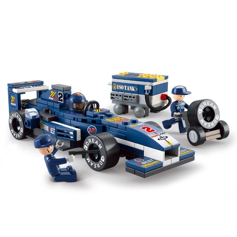 Sluban Model Building Compatible lego Lego B0351 196pcs Model Building Kits Classic Toys Hobbies 1:32 F1 Racing Car цена
