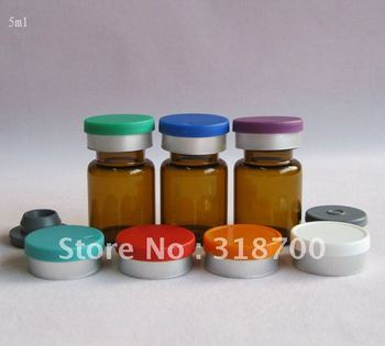 5ml amber glass vial & Butyl rubber stopper with flip cap, 2ml - 30ml is available