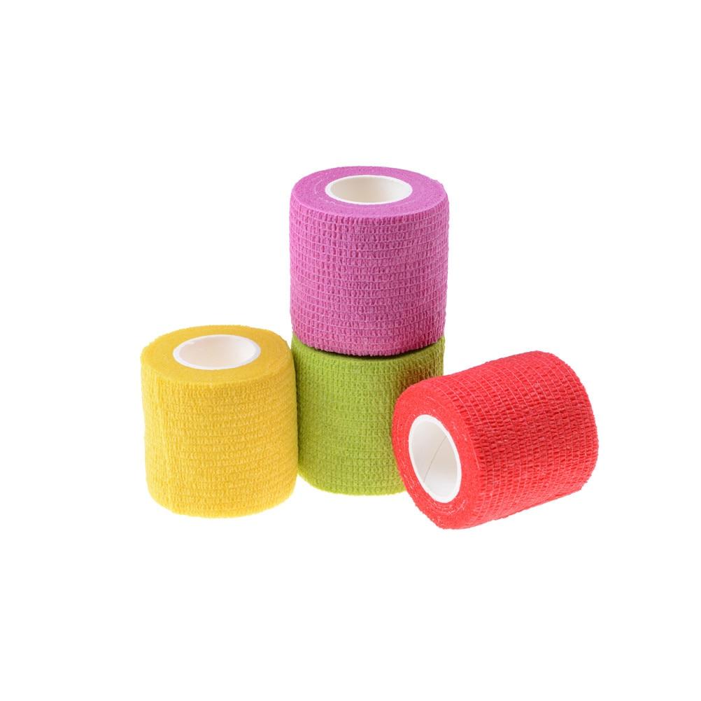 10pcs Security Protection Waterproof Self-adhesive Cshesive Bandages Elastic Wrap First Aid Sports Body Gauze Vet Medical Tape Emergency Kits