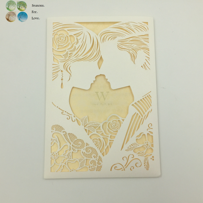 Romantic Wedding Gift For Groom : wedding engagement invitation laser cut groom bridge romantic ...