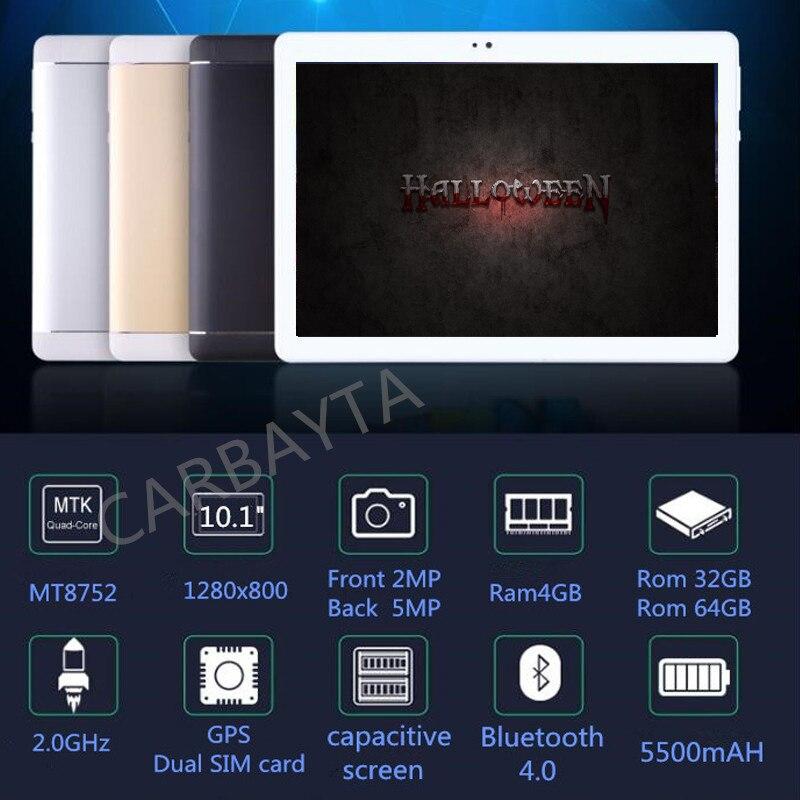 2018 Nuovo 10.1 Tablet Android Octa Core 4 gb di RAM 32 gb 64 gb Tablet Dual SIM Dual Standby Senza Fili bluetooth Portatile Tablet