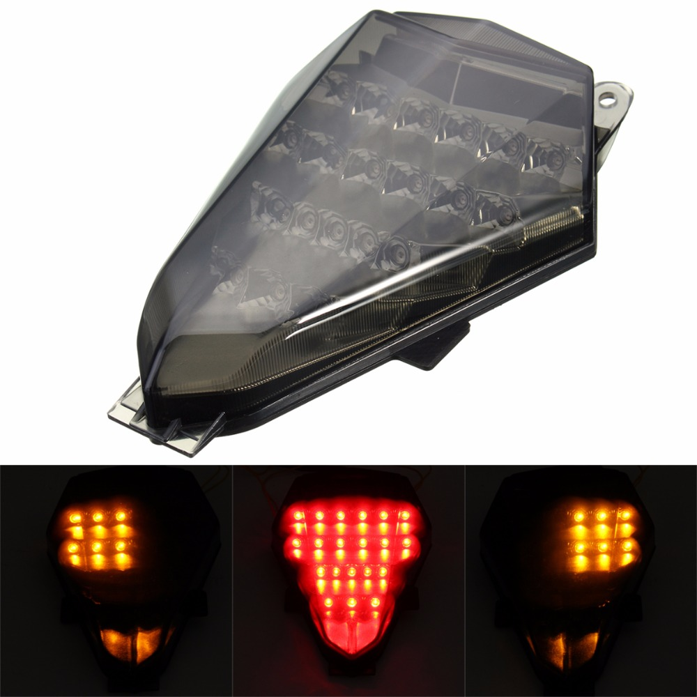 For 06-13 Yamaha YZFR6 YZF R6 LED Tail Brake Rear Turn Signals Indicator Warning Stop Lights 2006 2007 2008 2009-2013 waase for yamaha yzf r6 2006 2007 taillight rear tail light brake turn signals integrated led light
