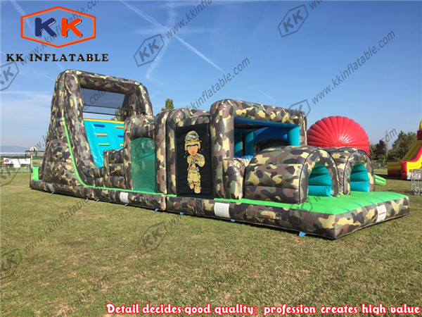 kids boot camp army adult assault inflatable obstacle course for sale