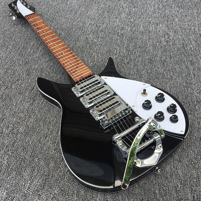 2018 nouveau, boutique sur mesure, guitare électrique Three pickup 325 de haute qualité, reliure en celluloïd avant et après le corps, vraies photos!