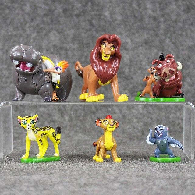 6 unids/set figura del Rey León Simba Nala Timon modelo figurita PVC figura de acción muñeca juguetes 3 ~ 6,5 cm gran regalo