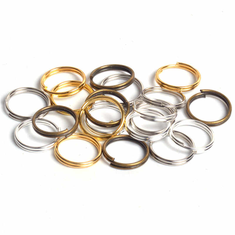 200pcs/lot 4 5 6 8 10mm Jump Ring Double Loop Open Jump Rings Split Rings for Jewelry Necklace Bracelet Chain Connector Findings