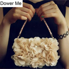 Dower Me Beige Rose Peony Cloth Flower Flip Wallet Purse Pearl Handbag Leather Case Cover For iPhone XS Max XR X 8 7 6 6S Plus 5