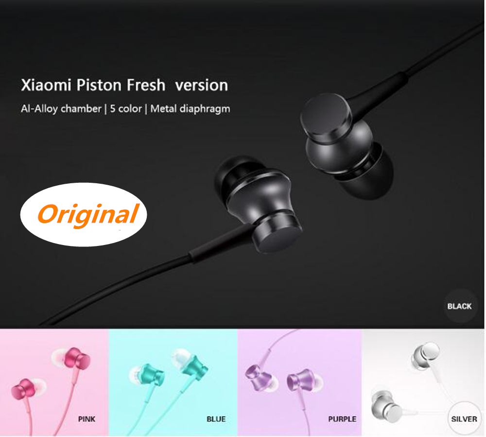 Original Xiaomi Fresh Edition Øretelefoner Mi Øretelefoner Stempelversion In-Ear With Mic Trådstyring Auriculares Xiaomi Mi