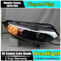AUTO.PRO for ford EcoSport headlights 2013-2015 Bifocal lens for ford EcoSport LED light bar DRL xenon H7 head lamps car styling
