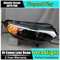 AUTO. PRO para ford EcoSport faros 2013-2015 lente Bifocal para ford EcoSport LED barra de luz DRL xenon H7 faros de coches styling