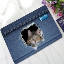 3d печать ковбойские оригинальные резиновые тонкие Коврики для пола дверной коврик для кота собаки водопроводная кухня ванная комната Противоскользящие коврики под дверь